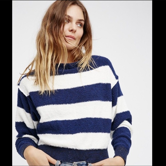 b35a4cc0fa186 Free People Striped DolmanSleeve Texture Sweater S